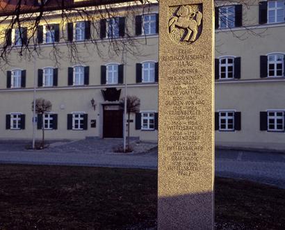 Rathaus - Stele, Foto: Günster