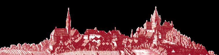 Silhouette von Haag als Stich
